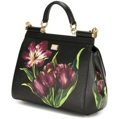 Dolce   Gabbana tulip print  Sicily  tote ( 2 a2ef1f9a2a90e