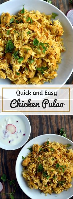 Quick and Easy Chicken Pualo , Chicken Pulav - Gluten Free Indian - Cooking Curries This Gluten Free Indian dish of Chicken and Basmati Rice is an easier version of a biryani, yet elegant in itself to be served to company.