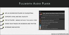 Fullwidth Audio Player - jQuery plugin