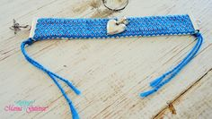 Brazalete con bordado tsotsil de los Altos de Chiapas, corazón en llamas y terminales en plata .950. Tsotsil hand embroidery bracelet from Chiapas, México, sterling silver heart & components.