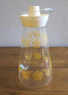 Vintage Pyrex Butterfly Gold Juice Carafe