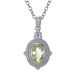 Sterling Silver Lemon Quartz Pendant (5 CT) With 18 Inch Chain *** Hurry! Check out this great product : Fashion Jewelry