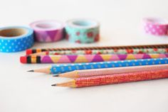 The Pink Doormat: Decorate Your Pencils with Washi Tape