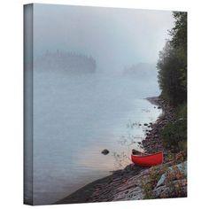 ArtWall Ken Kirsch Smoke on the Water Wrapped Canvas, Size: 36 x 36, Brown