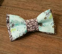 Boys clip on bowtie! Hey, I found this really awesome Etsy listing at https://www.etsy.com/listing/241796651/0-2t-blue-two-toned-floral-clip-on
