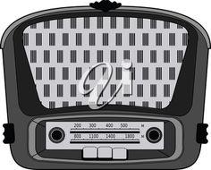 vector illustration of vintage radio
