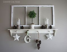 """COUNTRY GIRL HOME: Old window tutorial....How to make a brand new """"OLD"""" window! LOVE this!"""