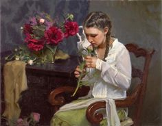 Fragrant Bloom by Michael Malm Malm, Salt Lake City Utah, Woman Painting, Figure Painting, Figure Drawing, Painting Art, Alex Colville, Art Archive, Fashion Painting