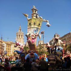 Las Fallas; Plaza de la Reina; Valencia