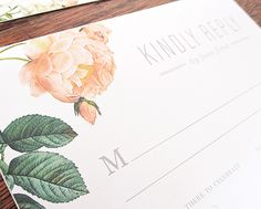 Amour Wedding Invitations by Rachel Marvin Creative