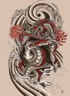 This was a tattoo commission I did for one of my husband's friends. I think it came out well and I had fun drawing it. I'm not very educated when it comes to designing a Japanese styled tattoo so t...