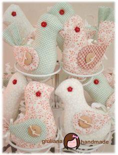 giuliana handmade: Passarinhos em tecido - com molde!