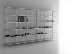 Open modular aluminium bookcase MINIMA Minima Collection by MDF Italia   design Bruno Fattorini
