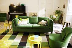 32 ides canap moderne pour le salon vert canape moderne ikea - Salon Canape Moderne
