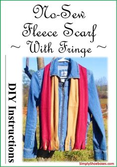 Simply Shoeboxes: No-Sew Fleece Scarves ~ Simple How to Instructions...