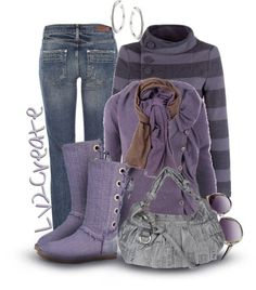 """Purple & Uggs"" by lv2create ❤ liked on Polyvore"