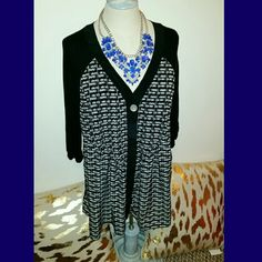 Style & Co Top only- very pretty black and white flowy blouse Style & Co Tops Blouses
