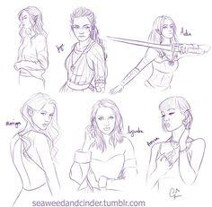 Tog/Acotar Ladies Sketchdump by Zombie-Sasquatch.deviantart.com on @DeviantArt
