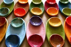 Serving plate and two small bowls.  Wild colors!  $49 for the set.