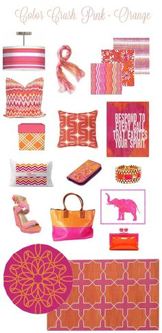 Checkout pink and orange color crush from centsationalgirl.com Wonderful blog posts.