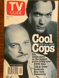Dennis Franz, Jimmy Smits, Nypd Blue, Vintage Tv, Law And Order, Tv Guide, Undercover, Madness, Tv Shows