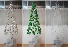 22 Creative DIY Christmas Tree Ideas | Bored Panda - some of these are lame, some are really cool.