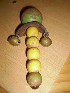 Antique rattle w) Bells