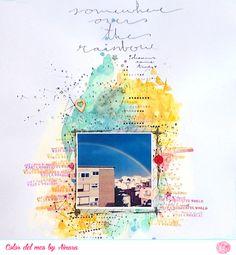 #papercraft #scrapbook #layout. Color del mes Agoto 2014 KdS Ainara