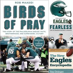 Coming Soon for all you football fans...Birds of Pray. Until you get a copy, we offer these other books featuring the Philadelphia Eagles. #WordOnWednesday  - Philadelphia Eagles: The Complete Illustrated History - Fearless: How an Underdog Becomes a Champion  - The New Eagles Encyclopedia