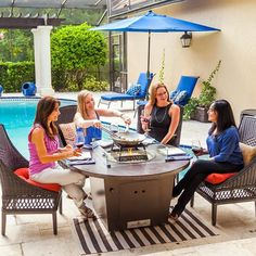 Cyprus Copper Fire Pit Table Outdoor Rooms, Outdoor Furniture Sets, Outdoor Decor, Copper Fire Pit, Family Leisure, Float Your Boat, Fire Pit Table, Patio Table, Cyprus