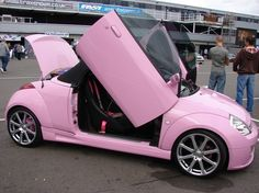 Pink for KA convertable! I could see Abby in real life driving this gorgeous little car.