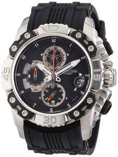 Festina F16543/4 - Reloj de pulsera con cronógrafo para hombre (correa de caucho y esfera negra)