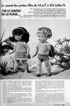 PAR AMOUR DES POUPEES :: M&T 1975-07 : SUR LE CHEMIN DE LA PLAGE (tricot)