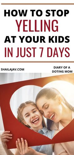 How to stop yelling at your kids in just 7 days and bond with your kids the right way. Simple, effective, positive parenting tips that everyone can use. Mindful Parenting, Peaceful Parenting, Gentle Parenting, Parenting Advice, Kids And Parenting, Mom Dad Baby, Mom And Dad, Building Self Confidence, Happy Mom