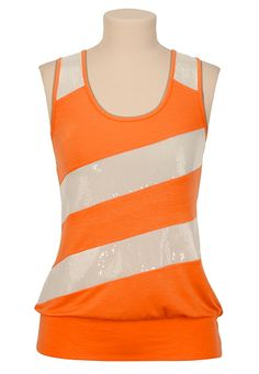 Striped Sequin Tank Maurices $29. You can't see it here, but I really like that back.