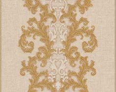 Versace 2 home Vlies Tapete 962323 - Gelb, Weiß , Creme , Gold , Metallic - Barock , Modern , Retro , Klassik , Struktur , Ornament - Kaufen bei SENDMAX GmbH & Co. KG