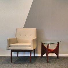 Jens Risom White & Walnut Chair