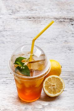 Iced tea by Grafvision photography on @creativemarket