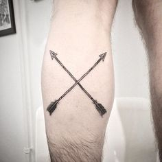 Did this crossing arrows motive on Marcel today. #arrow #arrows #tattoo