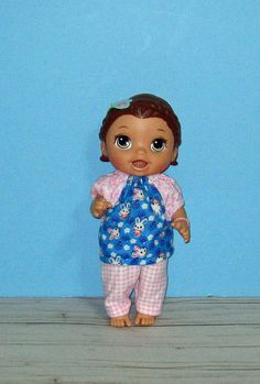 Your place to buy and sell all things handmade Baby Alive Doll Clothes, Baby Alive Dolls, Girl Doll Clothes, Girl Dolls, Blue Bunny, All The Way Down, Pajama Set, Diana, Lily
