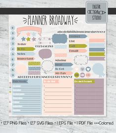 Planner Diy, Planner Ideas, Happy Planner, Printable Planner, Printables, Pastel Colors, Arrows, How To Draw Hands, Bubbles