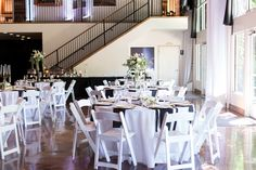 Reception Table Decor White Black Gold Theme | The-Palms-Chico-California-Wedding-Photographer-TréCreative