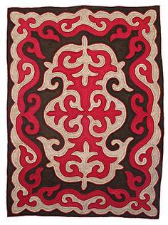 kyrgyzstan felt rug Shyrdak