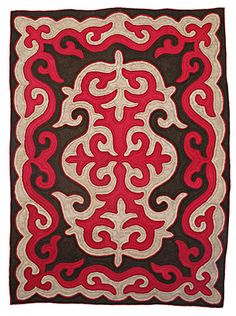 kyrgyzstan felt rug