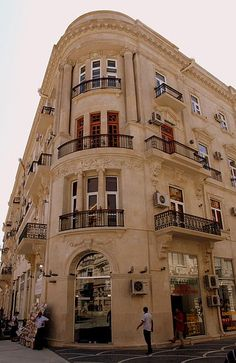 50 Nizami ul, Baku, Azerbaijan - 1912 apartment building.  We stayed about 3 blocks down the road from this place.