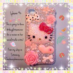 Hello kitty iPhone 4s custom case!