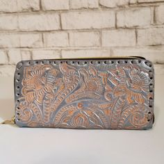 Women's Wallet, Leather, Handmade , Hand Tooled Leather, Boho, Bohemian, Tooled wallet, Large Wallet , for Cards, Gift for Her by aymxleather on Etsy Tooled Leather Purse, Leather Tooling, Cowhide Leather, Leather Wallet, Small Coin Purse, Braided Leather Belt, Large Wallet, Wallets For Women Leather, Leather Design