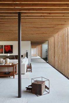 amazing wood ceiling + walls #architecture #decor #Brazil