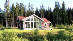 Sjöbacken. Das ist ein modernes neu erbautes Haus (2011) mit sehr hohem Standard und Seeblick,Tingsryd, Smaland, Schweden