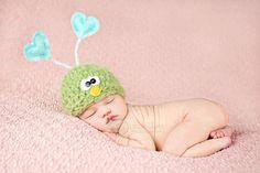 Love Bug Hat  Baby Bug Hat  Valentine Hat   Newborn by bitOwhimsy, $36.00